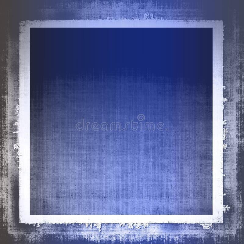 蓝色织品grunge 库存例证