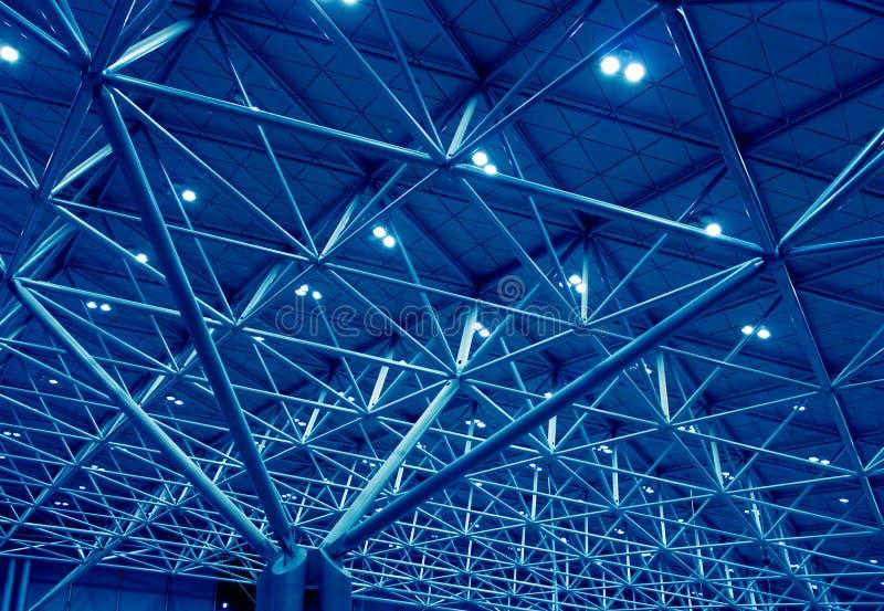 蓝色结构技术支持 免版税库存照片