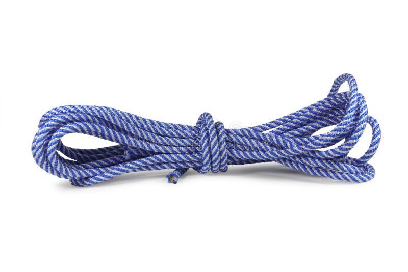 蓝色绳索 库存照片