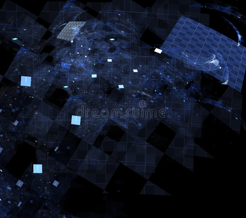 蓝色网格 库存例证