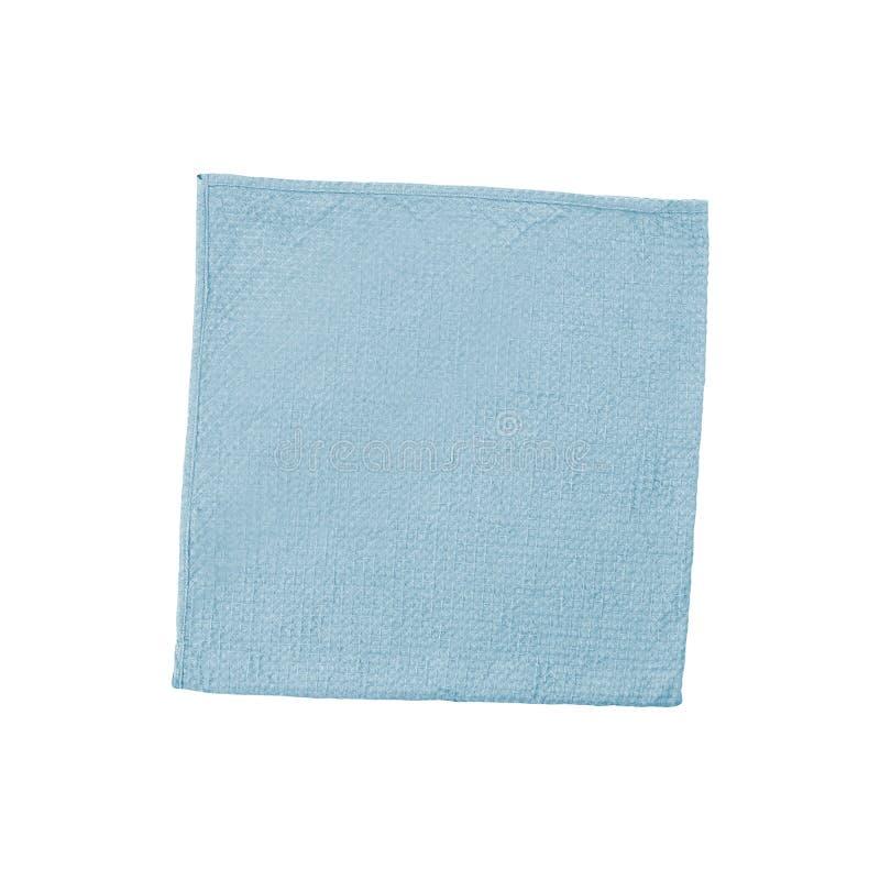 蓝色羊毛毯子 库存图片