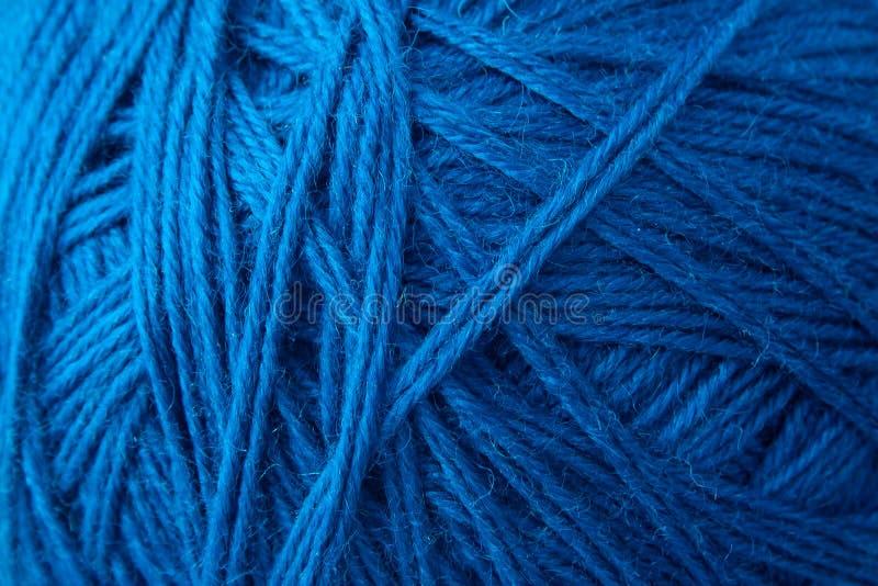 蓝色羊毛背景 库存照片