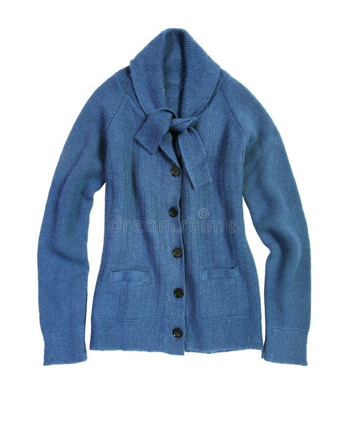蓝色羊毛衫 免版税库存照片
