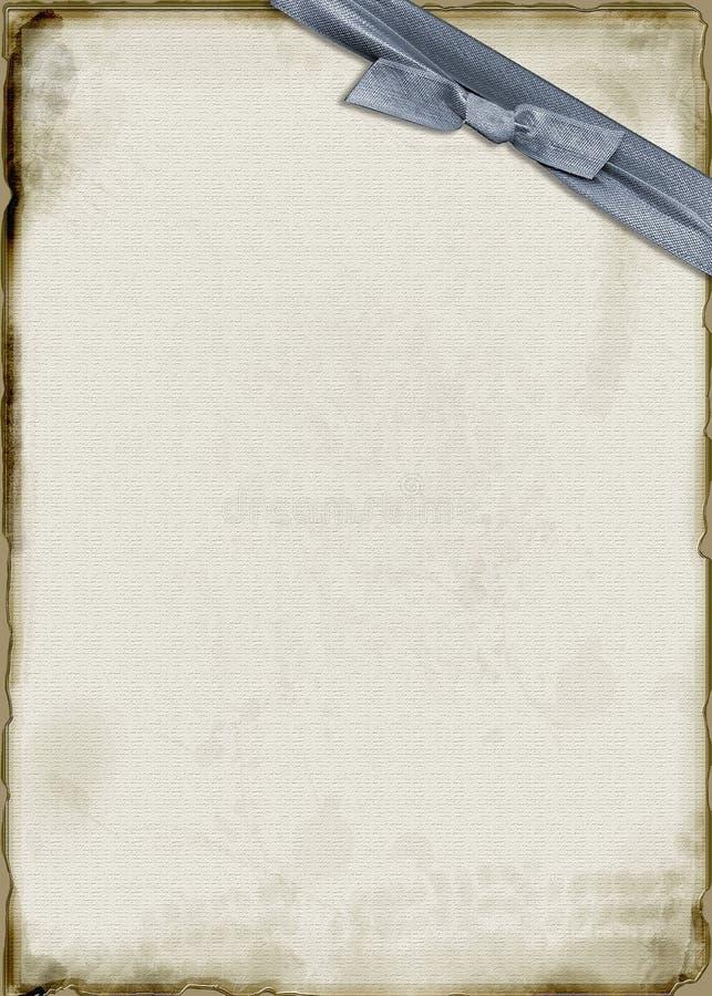 蓝色羊皮纸丝带 皇族释放例证