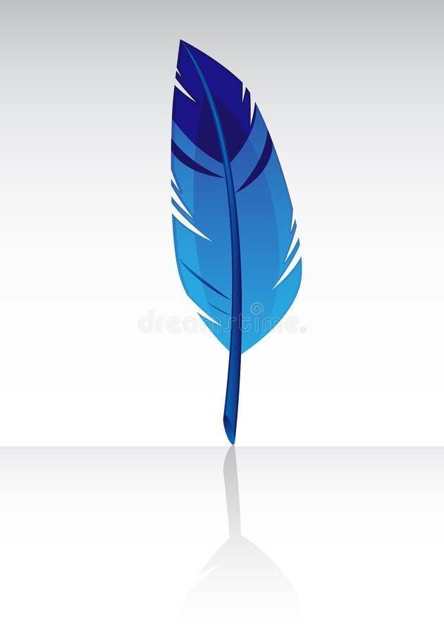 蓝色羽毛 向量例证