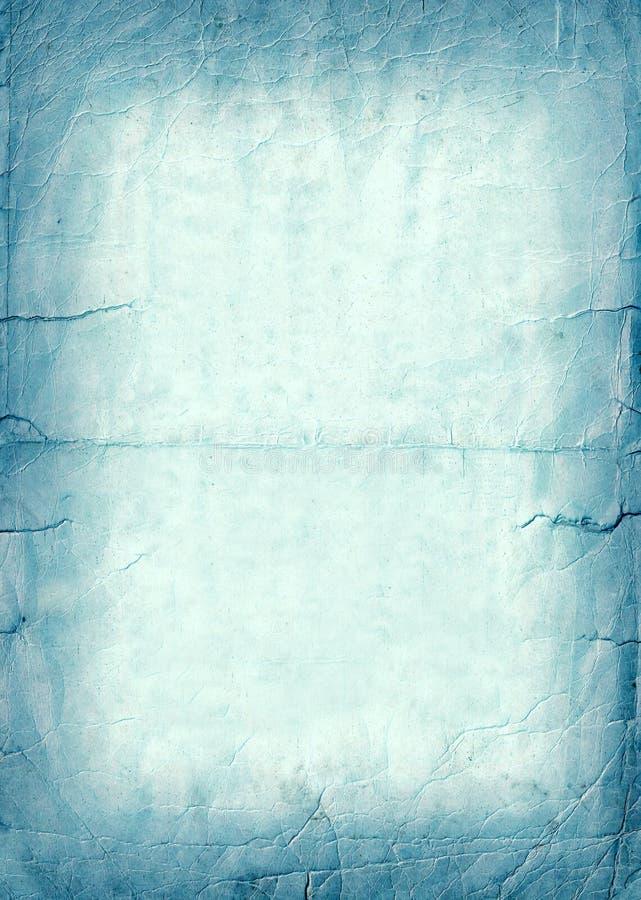 蓝色老纸抽象难看的东西背景,深蓝泪花信件横幅 库存照片