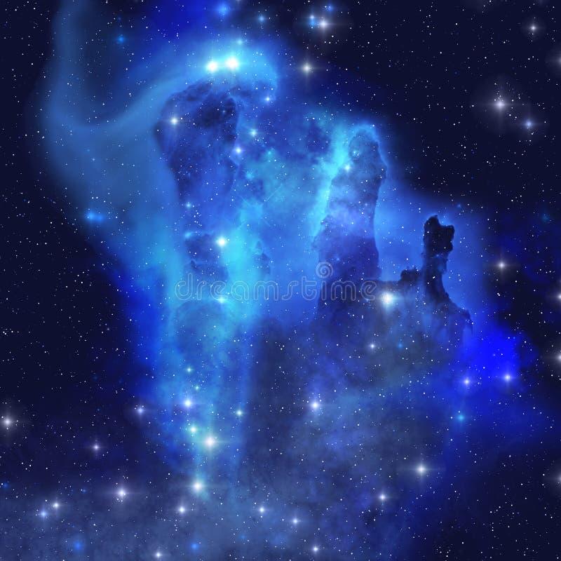 蓝色老鹰星云 向量例证
