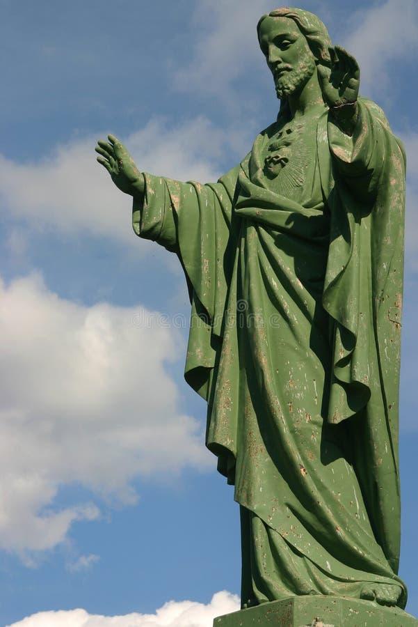 蓝色耶稣天空 免版税图库摄影