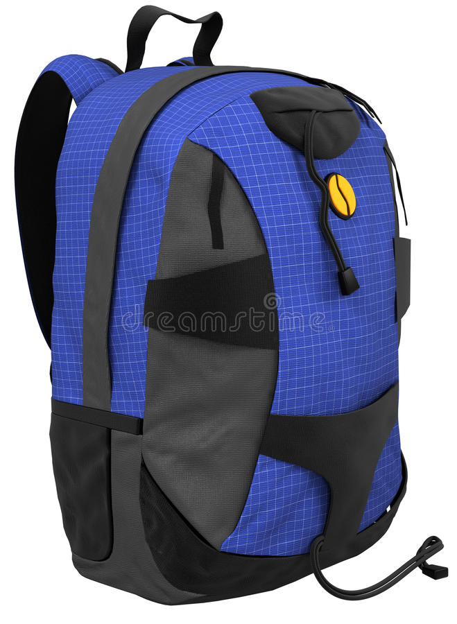 蓝色背包 向量例证