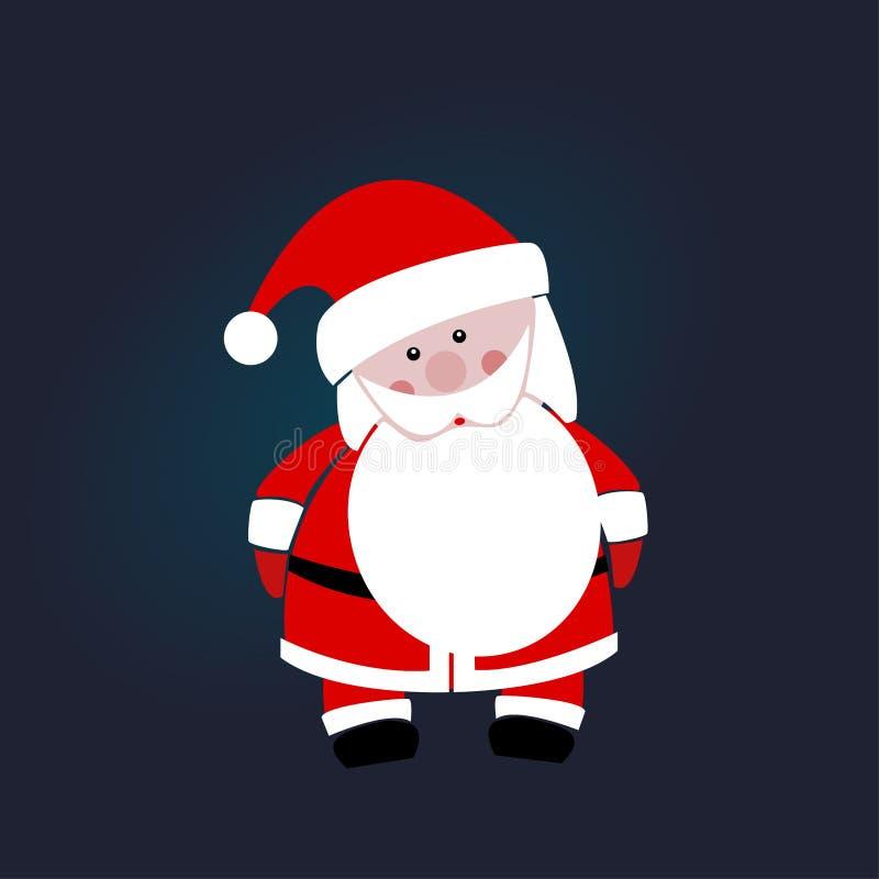 蓝色背景的圣诞老人 查出的对象 免版税图库摄影