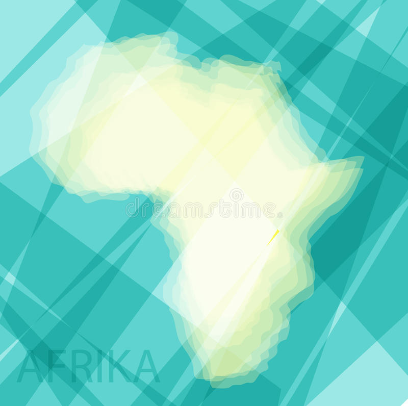 蓝色背景的非洲大陆 皇族释放例证