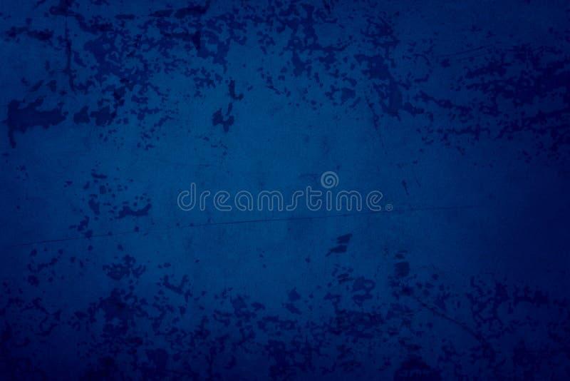 蓝色背景,格朗基质感,老古董锈色金属,剥皮漆 免版税库存图片