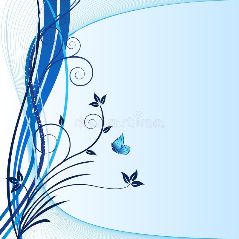 蓝色背景-向量 库存图片