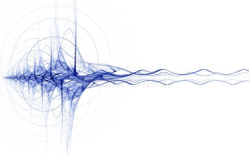 蓝色能源冲动 向量例证