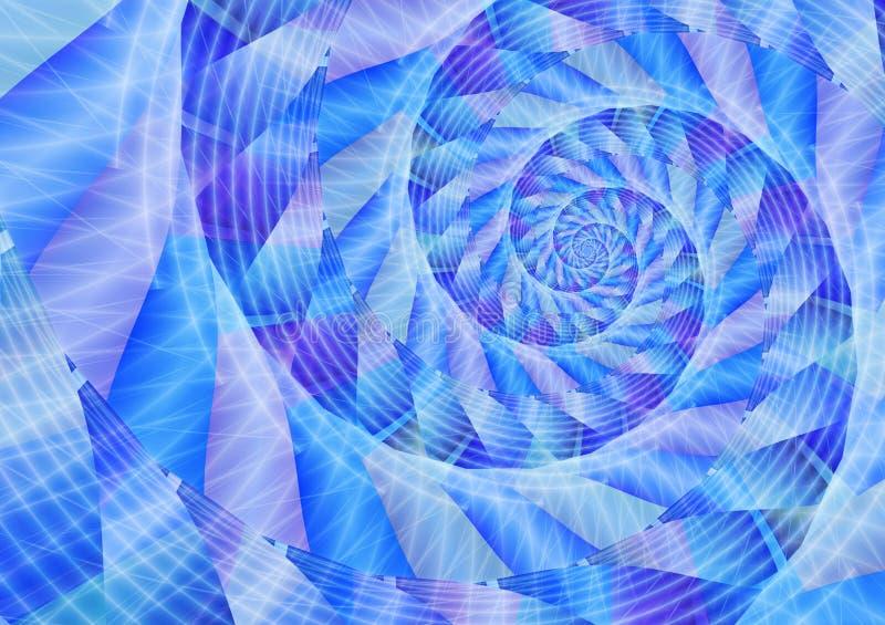 蓝色能源漩涡 库存例证
