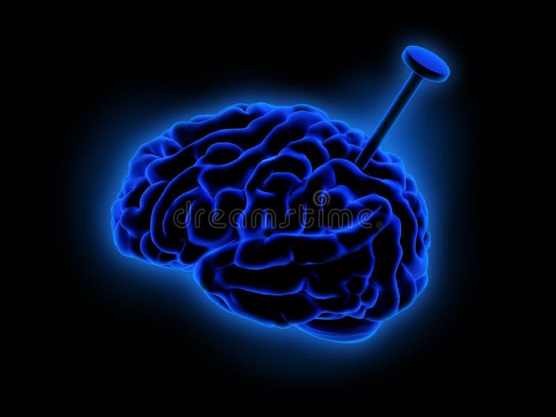 蓝色脑子 向量例证