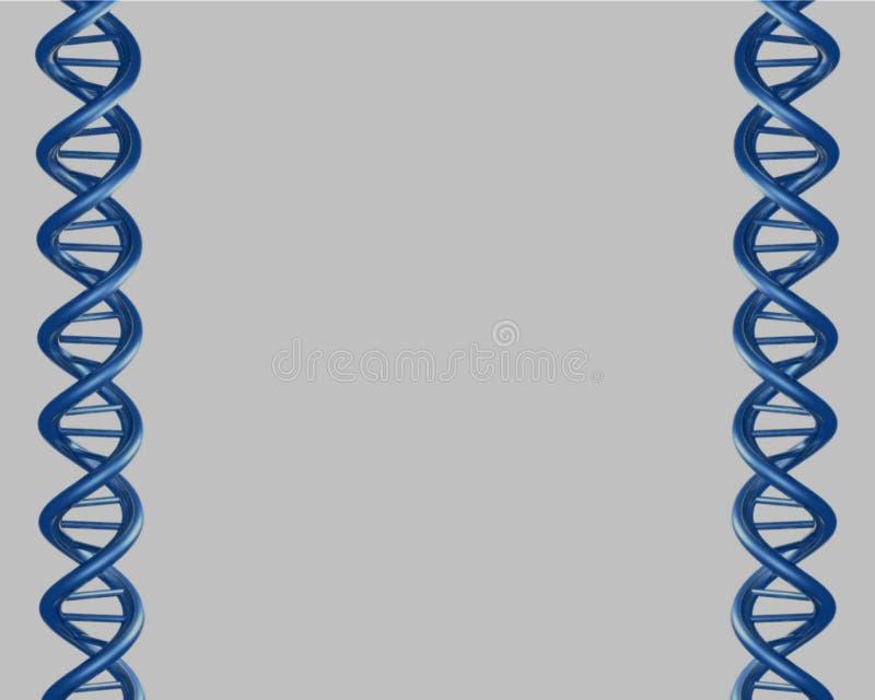 蓝色脱氧核糖核酸 皇族释放例证