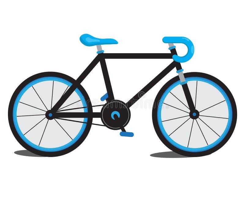 蓝色自行车 向量例证