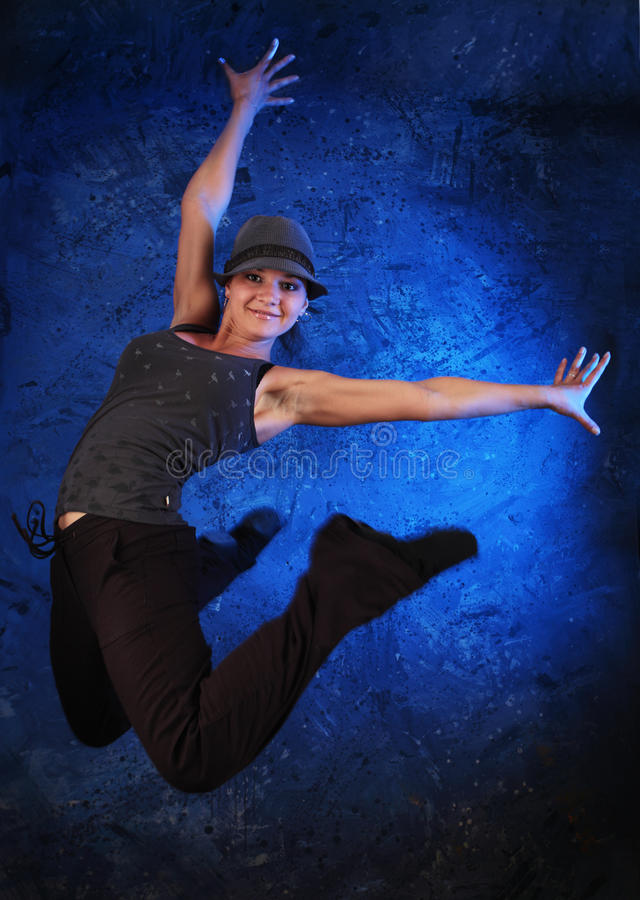 蓝色舞蹈 库存照片