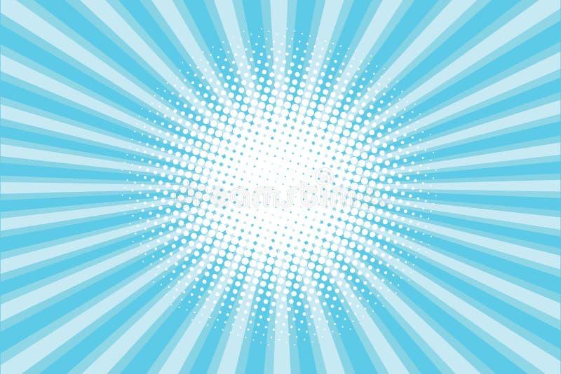 蓝色色的后面流行艺术样式背景 向量例证