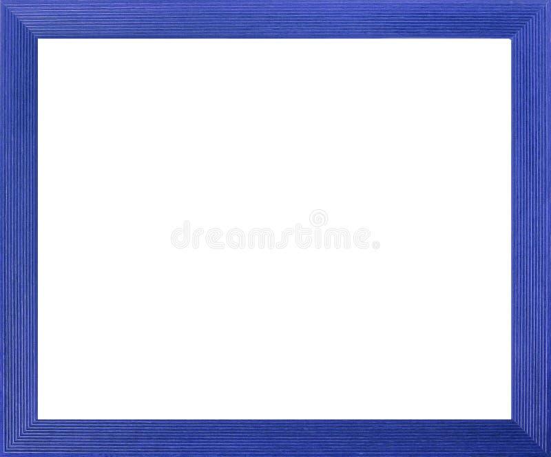蓝色色的框架照片 库存例证