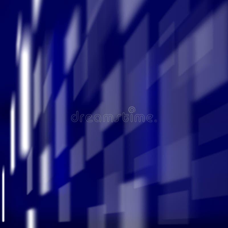 蓝色色的正方形 库存例证