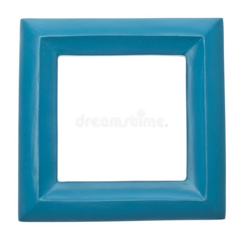 蓝色色的空的框架现代方形充满活力 免版税库存图片