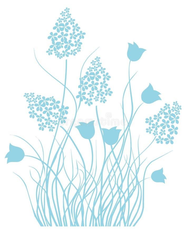 蓝色花卉轻的装饰品 库存图片