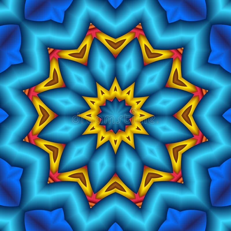 蓝色花坛场喘气了星形 向量例证
