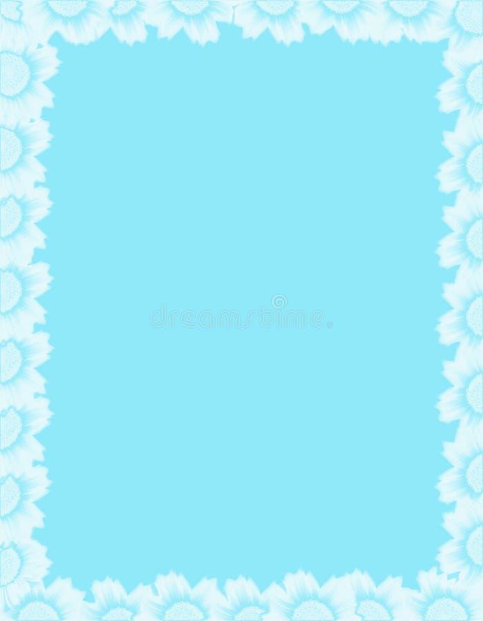蓝色花构成白色 免版税库存图片