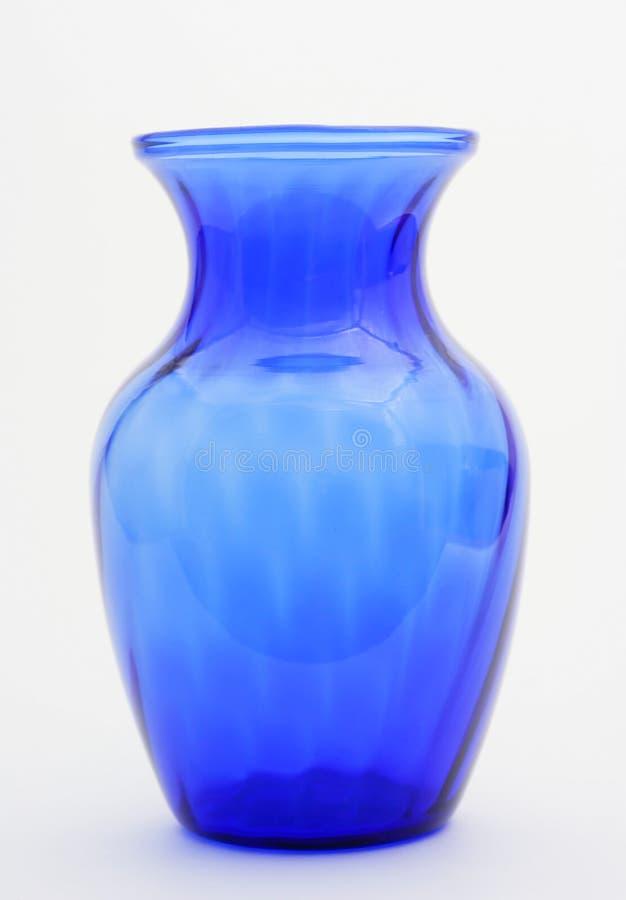 蓝色花瓶 免版税库存照片