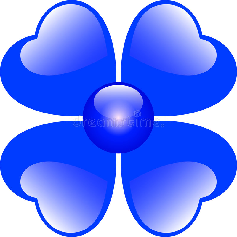 蓝色花重点 库存例证