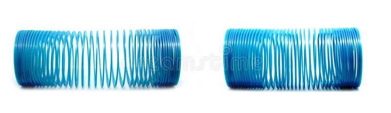 蓝色苗条的玩具 免版税图库摄影