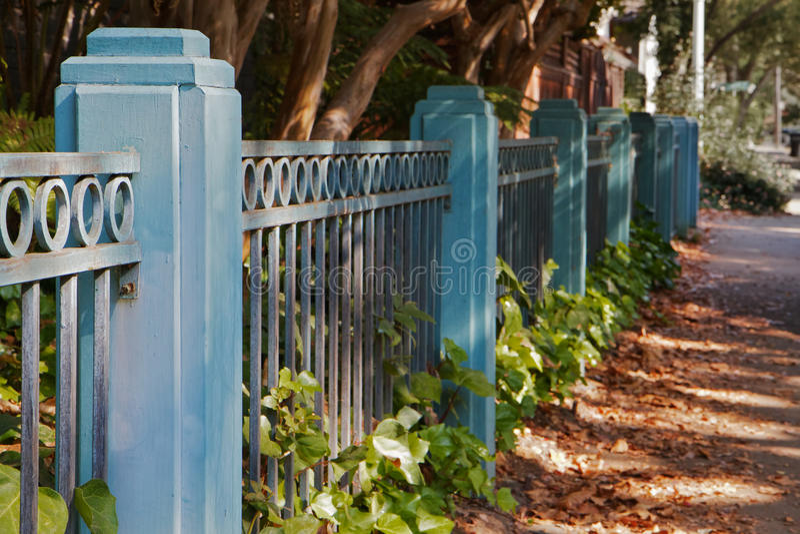 蓝色范围边路 免版税库存照片