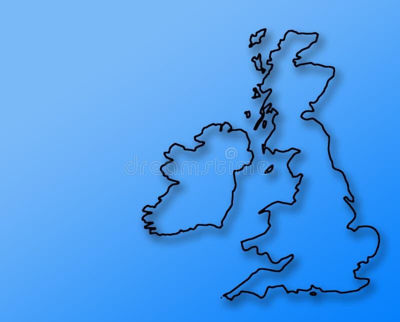 蓝色草图英国 库存例证