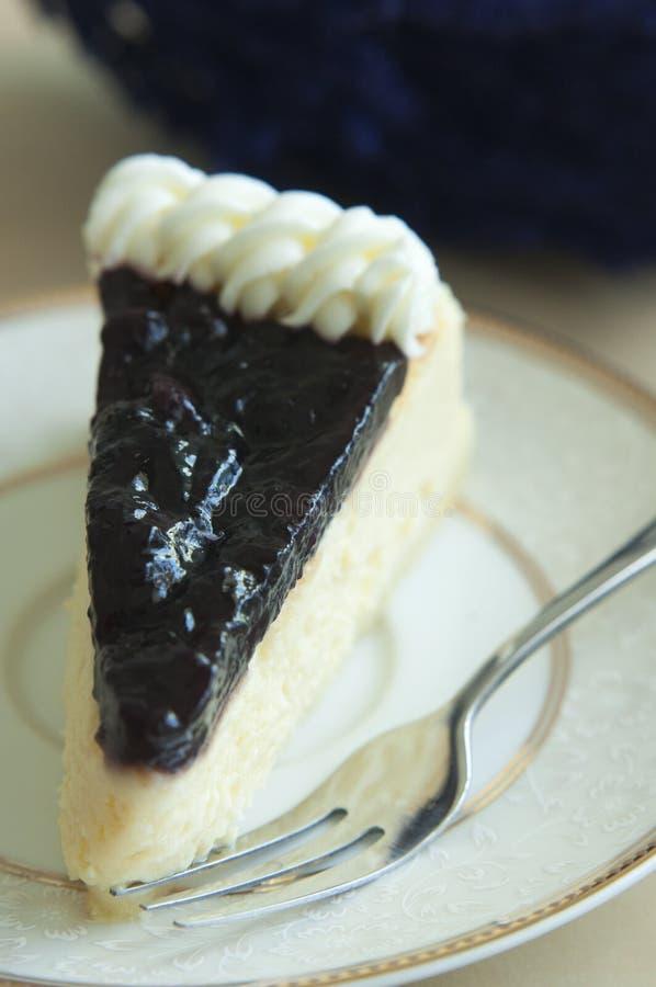 蓝色莓果cheeze蛋糕 免版税库存图片