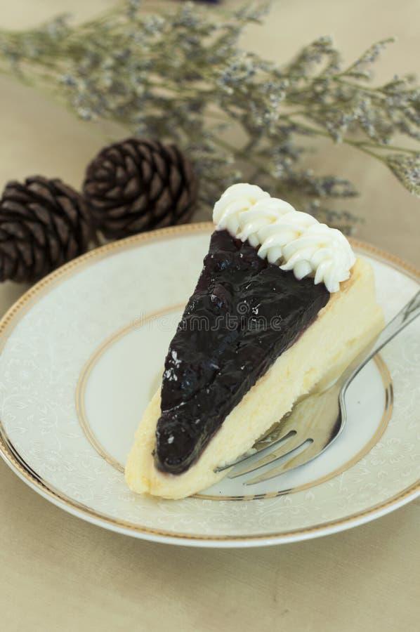 蓝色莓果cheeze蛋糕 库存图片