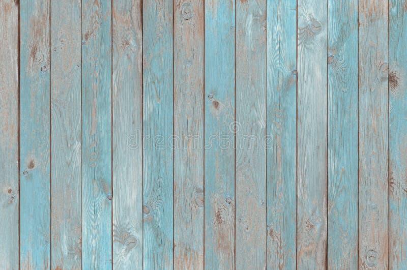 蓝色葡萄酒木板条纹理或背景 库存照片