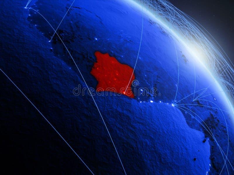 蓝色蓝色数字地球的象牙海岸 皇族释放例证