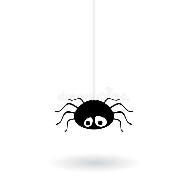 蓝色虚拟蜘蛛色彩万维网 库存例证