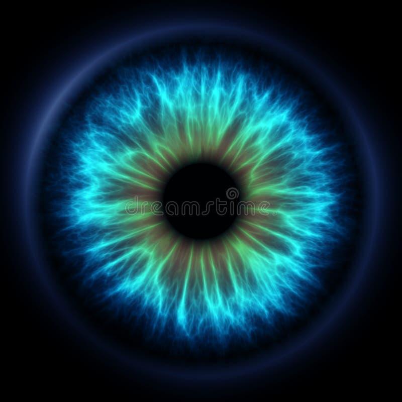 蓝色虹膜 向量例证