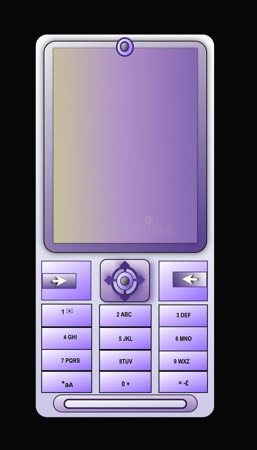 蓝色蜂窝电话轻的电话 库存照片