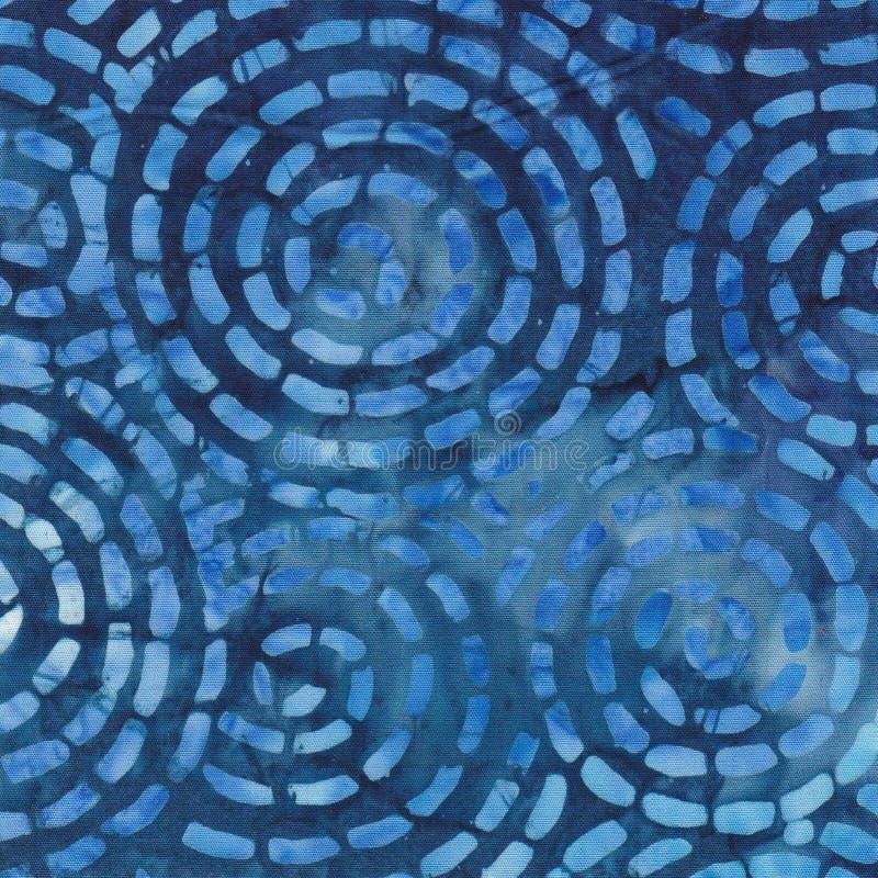 蓝色蜡染布背景 免版税库存照片