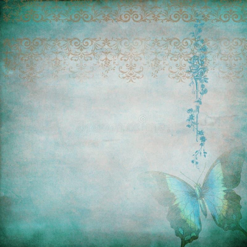 蓝色蝴蝶阴霾 库存例证