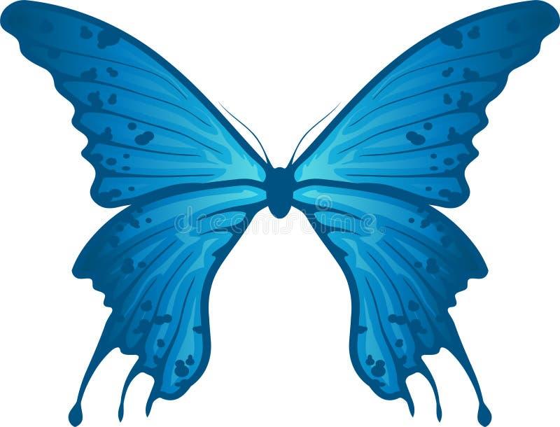 蓝色蝴蝶 库存例证