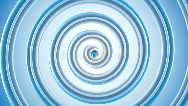 蓝色螺旋摘要3D回报 皇族释放例证