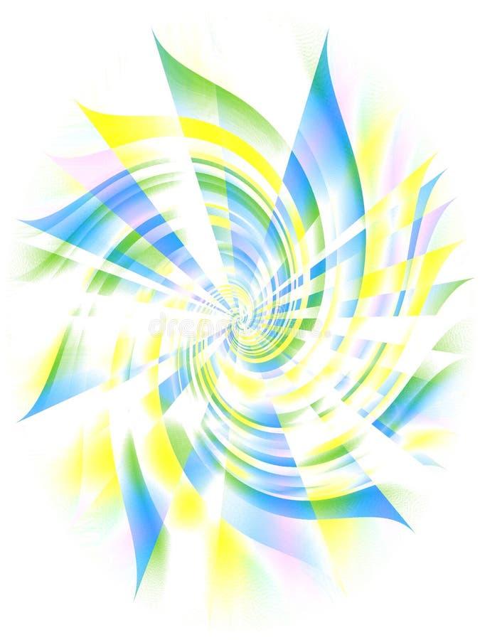 蓝色螺旋旋涡黄色 库存照片