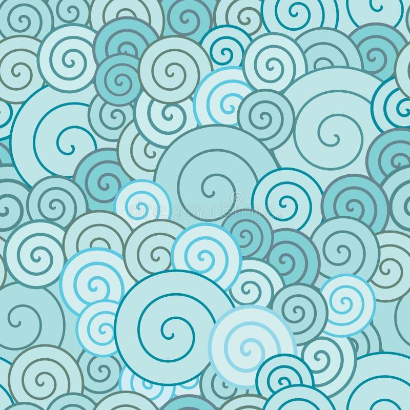 蓝色螺旋 向量例证