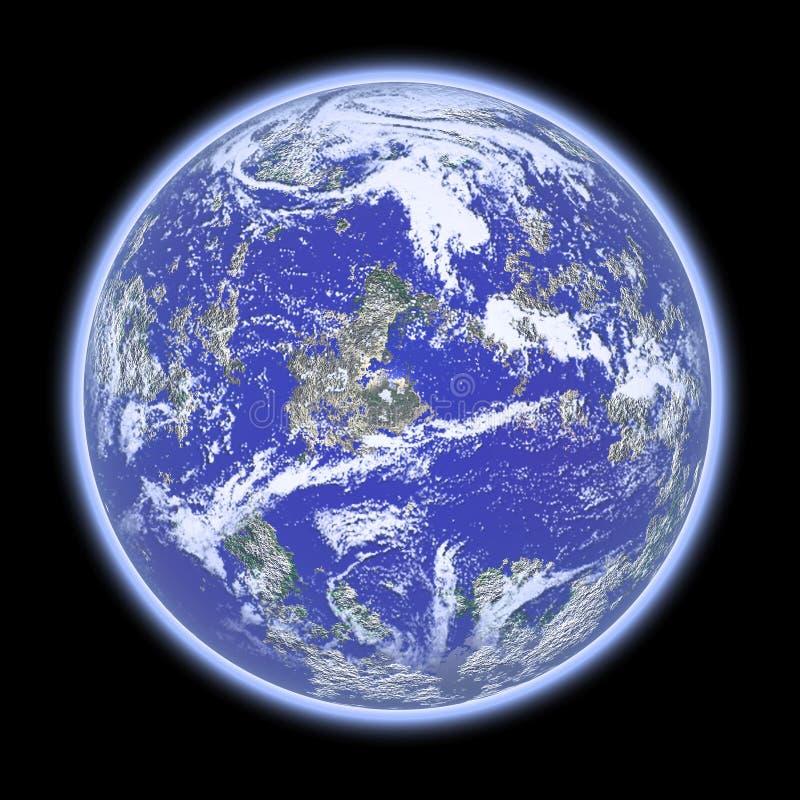 蓝色行星 向量例证