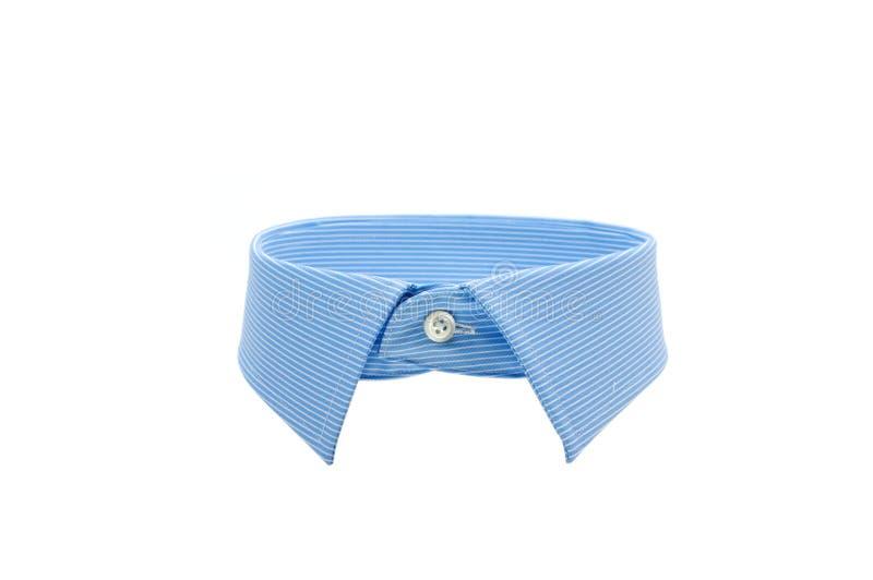 蓝色衬衣衣领 免版税图库摄影